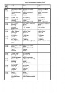 Расписание воды 17-19.05